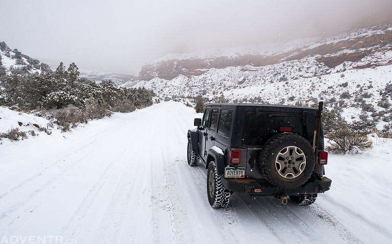 Snow-Packed Road