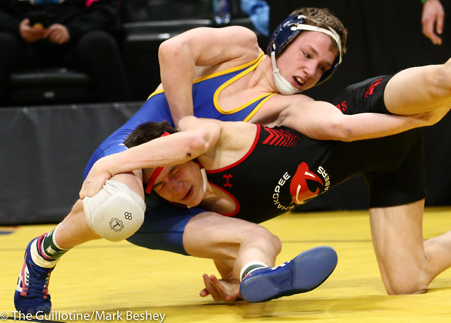 120 - Semifinal - Ben Lunn (Shakopee) 43-3 won by decision over Cael Swensen (Wayzata) 47-5 (Dec 1-0) - 190302amk0048