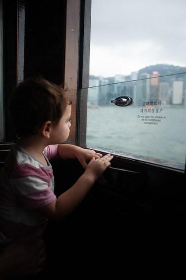Hong Kong Kids Riding Star Ferry