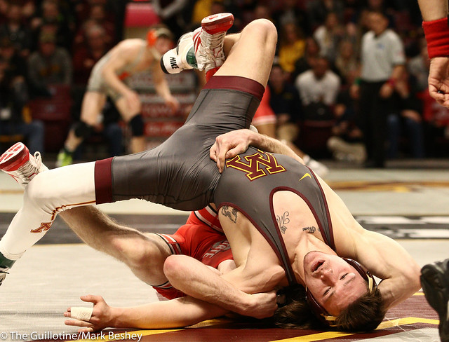 Quarterfinal - Joey McKenna (Ohio State) 18-2 won by major decision over Mitch McKee (Minnesota) 17-4 (MD 8-0) - 1903amk0269