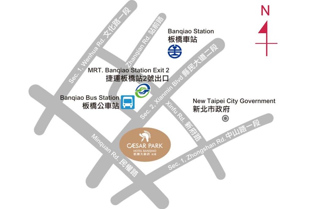 Caesar Park Hotel Banqiao Map