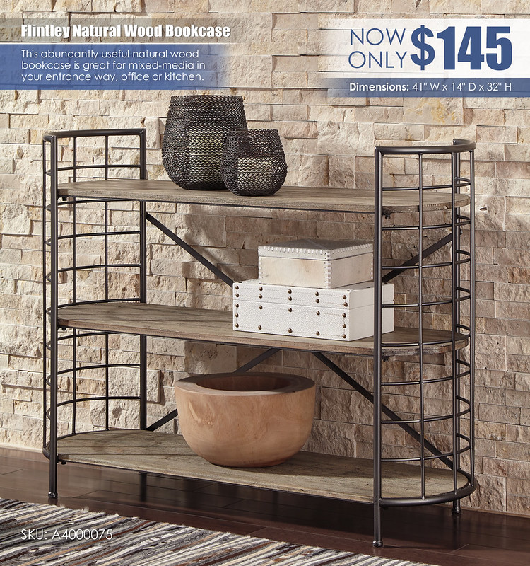 Flintley Natural Wood Bookcase_A4000075