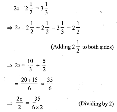 Selina Concise Mathematics Class 6 ICSE Solutions - Simple (Linear) Equations (Including Word Problems) - r30