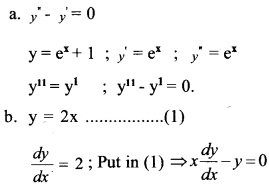 Plus Two Maths Chapter Wise Questions and Answers Chapter 9 Differential Equations 1