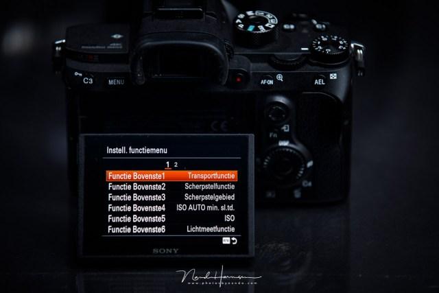 Het menu is en blijft een pijnpunt bij Sony. Gelukkig zijn er mogelijkheden om de meest gebruikte instellingen in een snelmenu te zetten, of je kunt er knoppen aan toe wijzen.