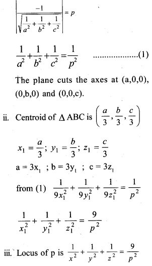 Plus Two Maths Chapter Wise Questions and Answers Chapter 11 Three Dimensional Geometry 3