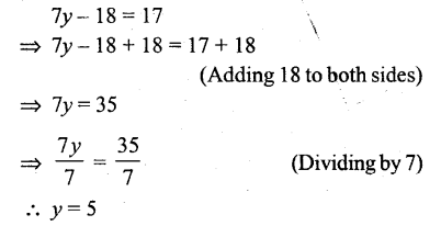 Selina Concise Mathematics Class 6 ICSE Solutions - Simple (Linear) Equations (Including Word Problems) - r21