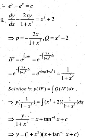 Plus Two Maths Chapter Wise Questions and Answers Chapter 9 Differential Equations 56
