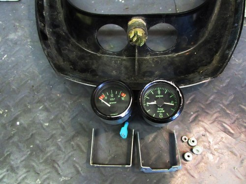 Volt Meter & Clock With Mounting Hardware
