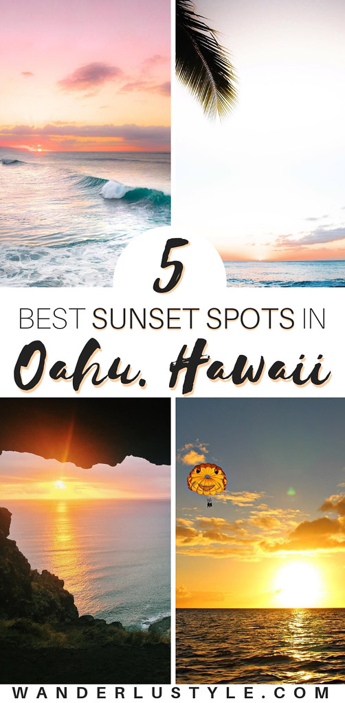 5 Best Sunset Spots on Oahu, Hawaii - Hawaii Sunset, Oahu Sunset, Best Hawaii Sunset, Best Oahu Sunset, Sunset in Hawaii | Wanderlustyle.com
