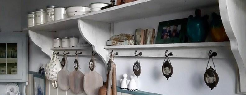 Kapstok keuken brocante