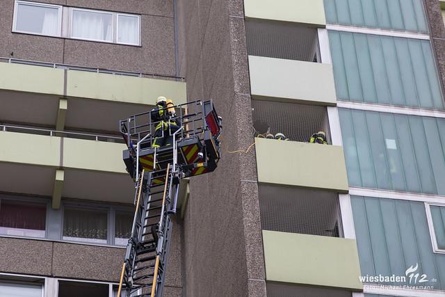 Küchenbrand Hochhaus Hattersheim 26.03.19