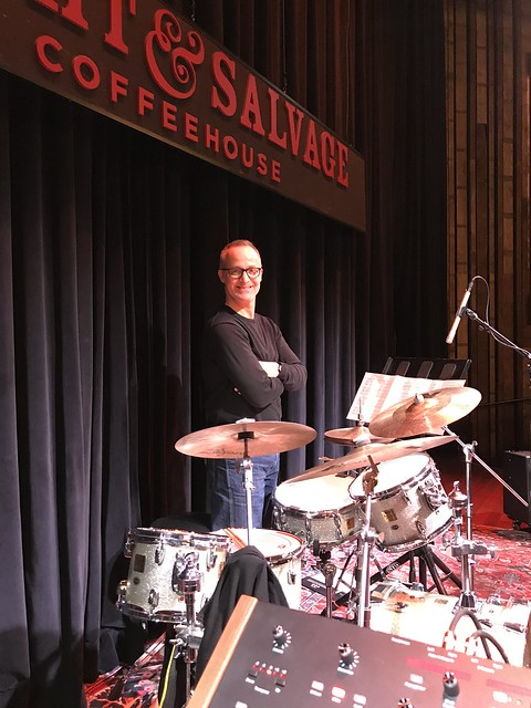 Drummer Michael Sarin during Soundcheck