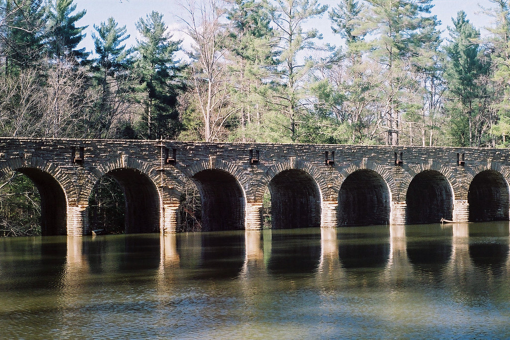 Bridge and dam