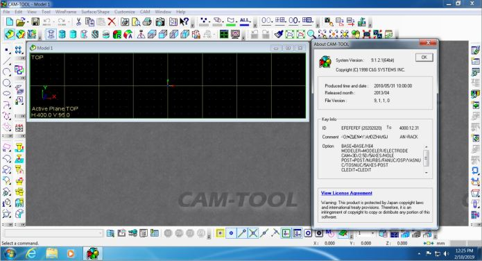 working with CAMTOOL V9 1 full license