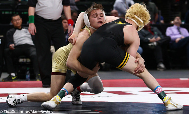 132AAA 1st Place Match - Trayton Anderson (Northfield) 54-1 won by decision over Adam Mickelson (Apple Valley) 36-8 (Dec 3-2) - 190302bmk0150