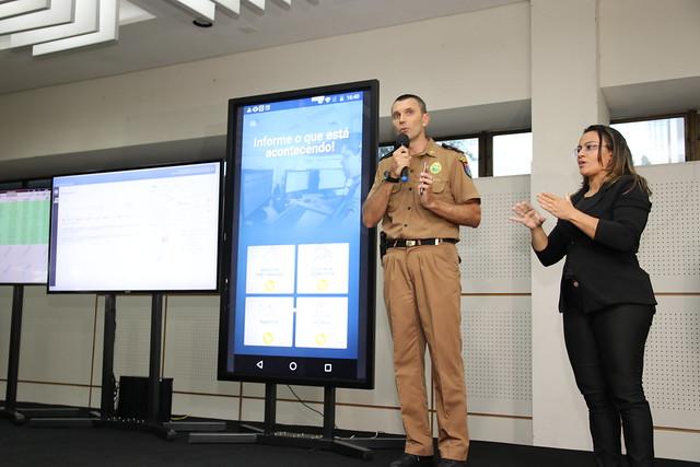22.02.2019 Lançamento regional do aplicativo 190 da Polícia Militar do Paraná