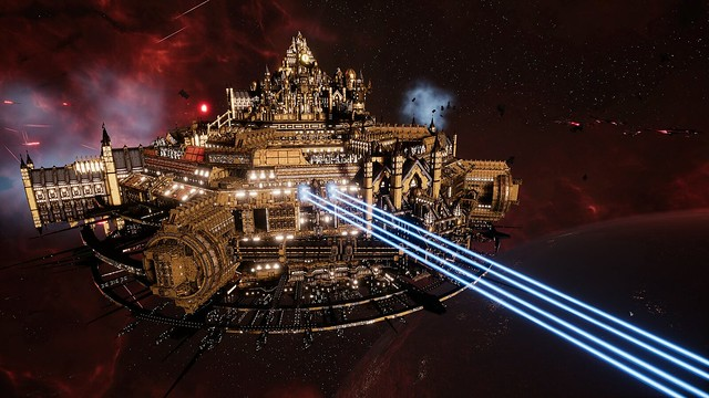 Battlefleet Gothica 2 - Space Cathedral Laser Fire