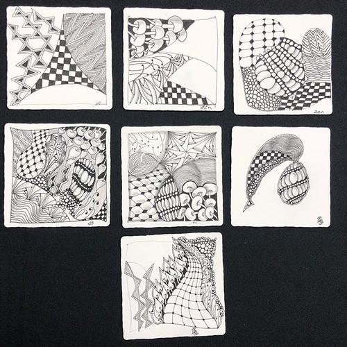 """Beyond Basics: String Theory"" class tiles"