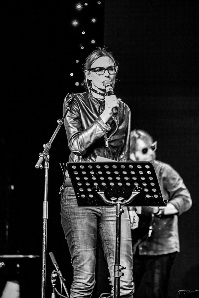 Aimee Mann, singing.
