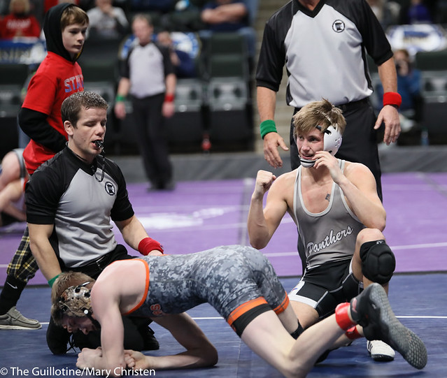 126AA 3rd Place Match - Justin Stauffacher (Scott West) 46-6 won in tie breaker - 1 over Kyle Boeke (Princeton) 44-5 (TB-1 2-1). 190302BMC3691