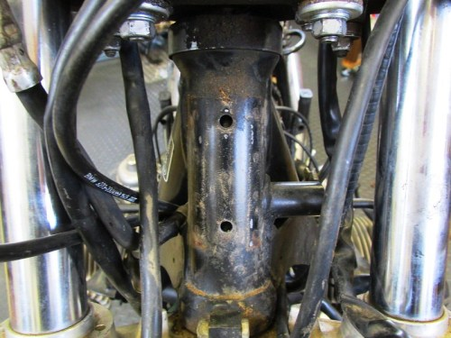 Steering Head Holes for Upper Fairing Bracket