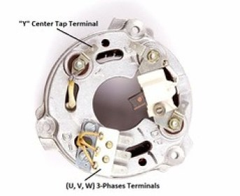 6 Series Stator Cover with Phase Terminals & Center Tap Terminal