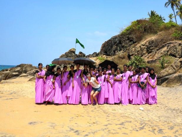 Estudiantes de enfermería en Kerala