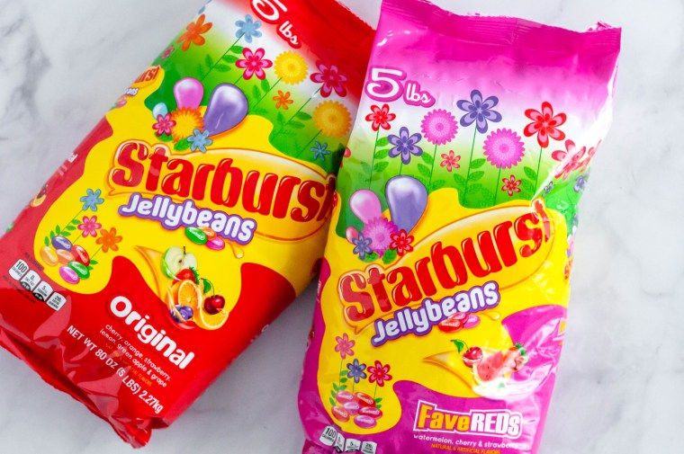 STARBURST® Jellybeans Popcorn Balls are the perfect treat for your Easter baskets. Grab a bag at a great value from Sams Club to make this fun dessert.