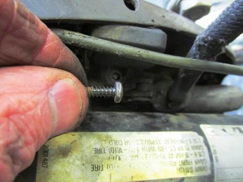 Rear Brake Light Switch Hardware Detail