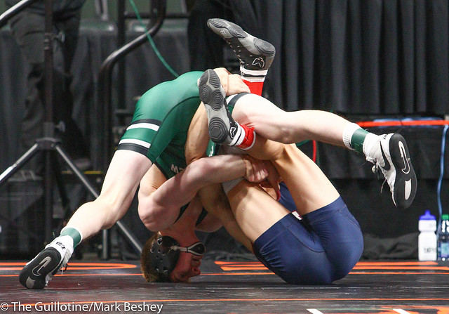 145 - Quarterfinal - Nick Dunagan (Mounds View) 47-3 won by major decision over Caleb Talamantes (Albert Lea Area) 31-21 (MD 11-0) - 190301amk0022