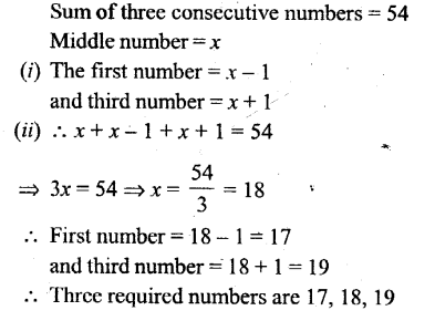 Selina Concise Mathematics Class 6 ICSE Solutions - Simple (Linear) Equations (Including Word Problems) - 11