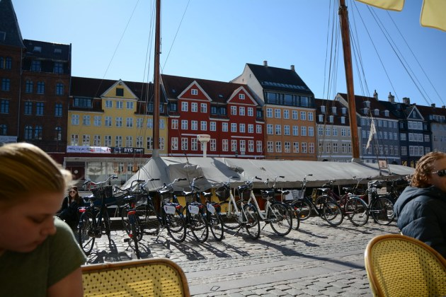 Lunch at Nyhavn by the canal