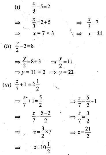 Selina Concise Mathematics Class 6 ICSE Solutions - Simple (Linear) Equations (Including Word Problems) - b2s