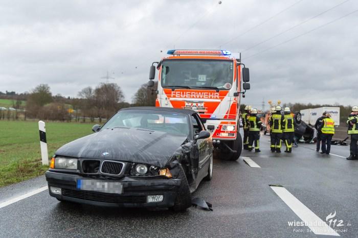 Unfall A66 Frauenstein 15.03.19
