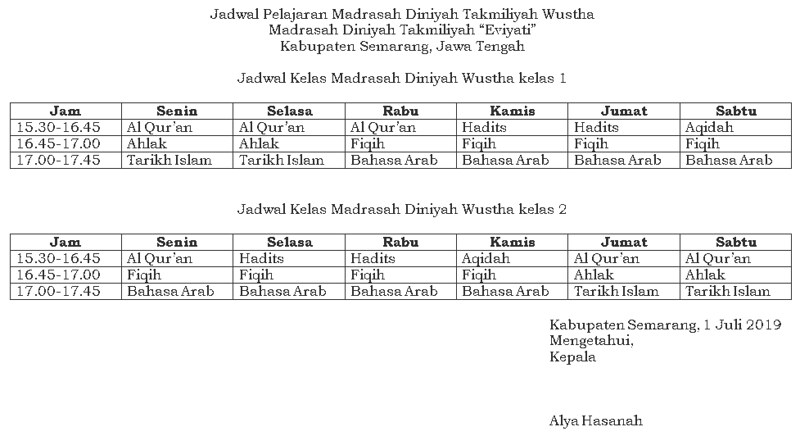 jadwal-pelajaran-madin-wustha