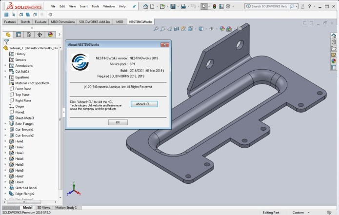 Working with Geometric NestingWorks 2019 SP1.0 for SolidWorks 2018-2019 full