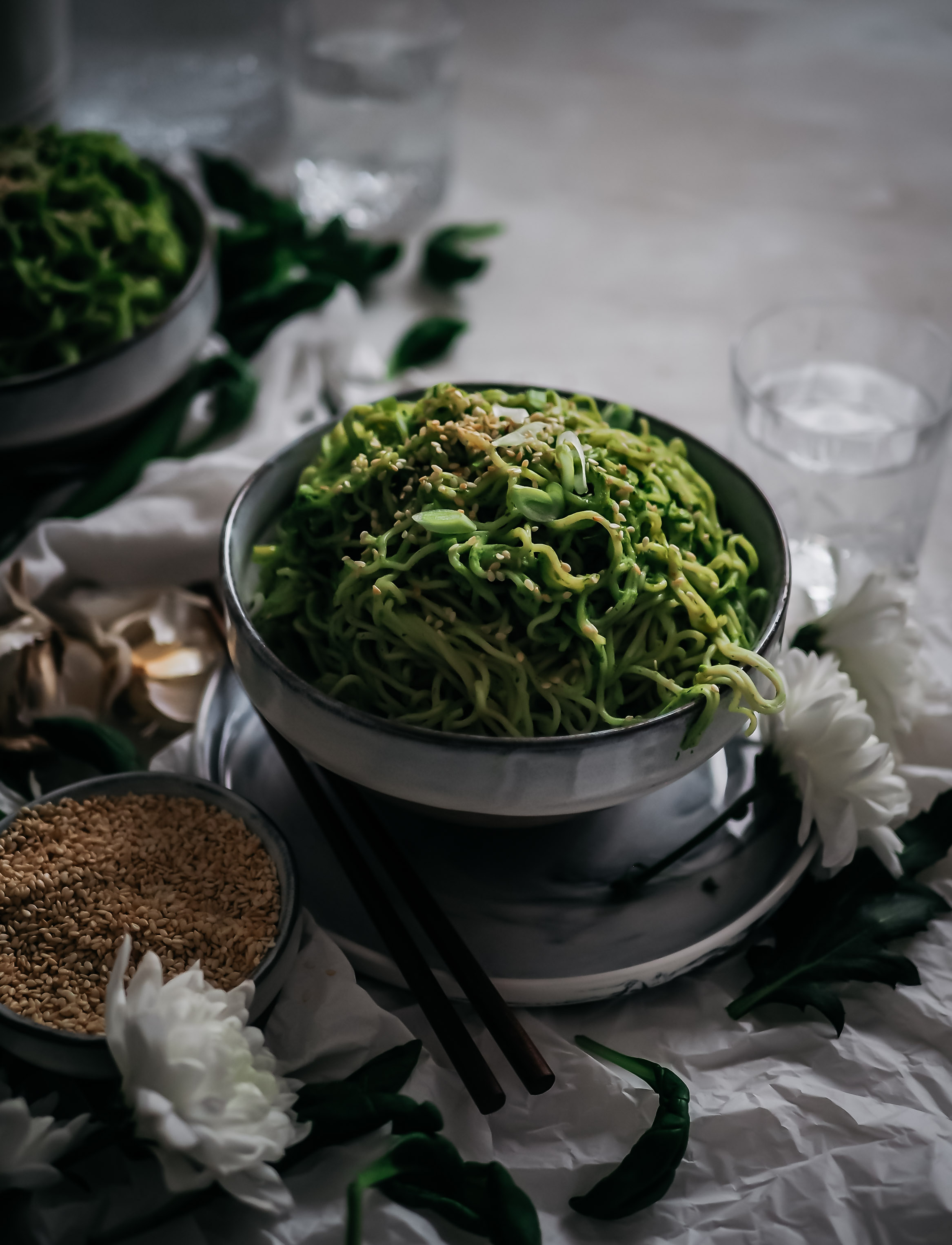 vihreät nuudelit
