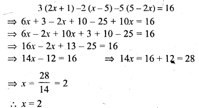 Selina Concise Mathematics Class 6 ICSE Solutions - Simple (Linear) Equations (Including Word Problems) - c27s