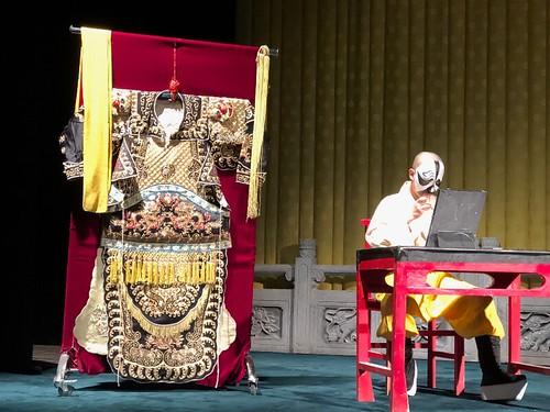 京劇的戲前梳妝表演
