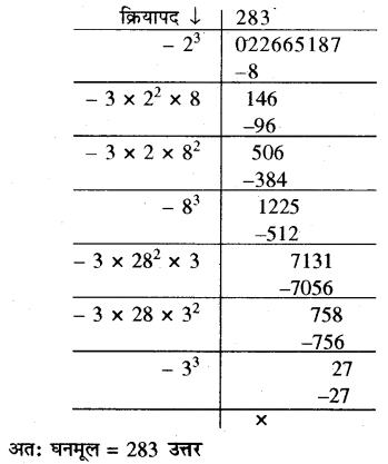 RBSE Solutions for Class 10 Maths Chapter 1 वैदिक गणित Ex 1.3 51