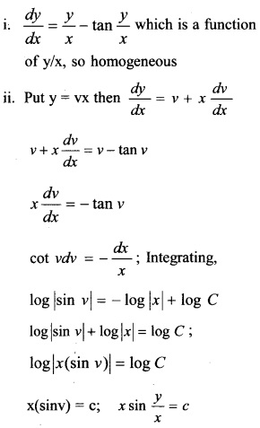 Plus Two Maths Chapter Wise Questions and Answers Chapter 9 Differential Equations