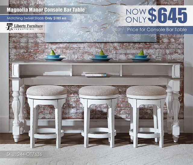 Magnolia Manor Console Bar Table_244-OT7636