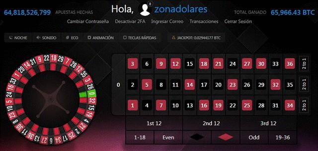 Juego de ruleta en Luckygames