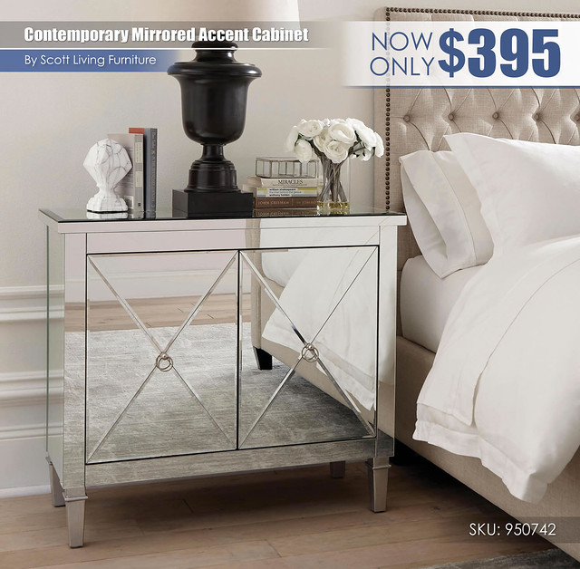 Contemporary Mirrored Accent Cabinet_Scott Living_950742