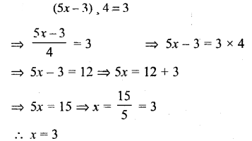 Selina Concise Mathematics Class 6 ICSE Solutions - Simple (Linear) Equations (Including Word Problems) - c26s