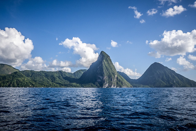 Boat Tour of St. Lucia and Pitons. Lucia-163