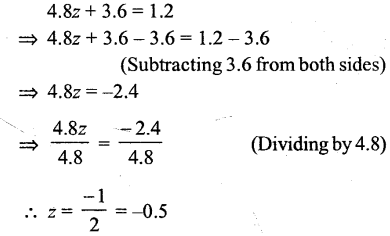 Selina Concise Mathematics Class 6 ICSE Solutions - Simple (Linear) Equations (Including Word Problems) - r12