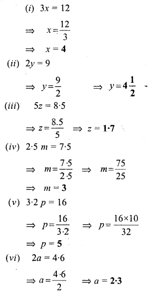 Selina Concise Mathematics Class 6 ICSE Solutions - Simple (Linear) Equations (Including Word Problems) - a3s