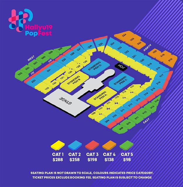 HallyuPopFest 2019 - seatingplan